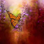 Autumn Monarch Art Print