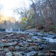 Autumn Morning Along The Wissahickon Creek Art Print