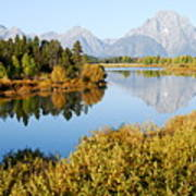 Autumn Morning At Oxbow Bend Art Print