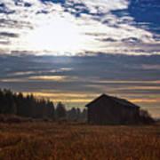 Autumn Morning On The Fields Art Print