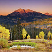 Autumn Mountain Landscape, Colorado, Usa Art Print
