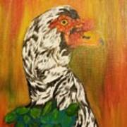 Autumn Muscovy Portrait Art Print