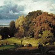 Autumn Oaks , George Inness Art Print