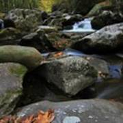 Autumn On Little River In The Smoky Mountains Art Print
