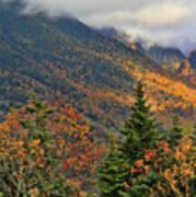 Autumn On Mount Mansfield Vermont Art Print