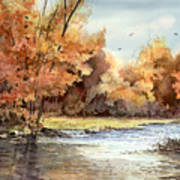 Autumn On The Buffalo Art Print