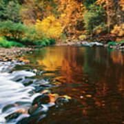 Autumn On The Merced River Yosemite Np Art Print