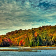 Autumn On The Moose River In Thendara Art Print