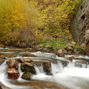 Autumn On The Provo River Art Print
