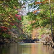 Autumn Over Golden Waters Art Print