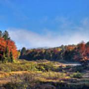 Autumn Panorama At The Green Bridge Art Print