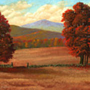 Autumn Pastures Art Print