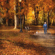 Autumn - People - A Walk In The Park Art Print