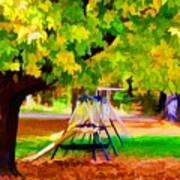 Autumn Playground 1 Art Print