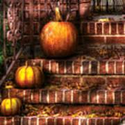Autumn - Pumpkin - Three Pumpkins Art Print