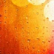 Autumn Raindrops Art Print