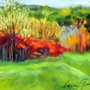 Autumn Reds Art Print by Lenore Gaudet