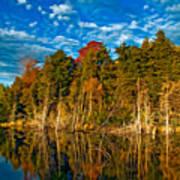 Autumn Reflection II Art Print