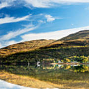 Autumn Reflection, Loch Long Art Print