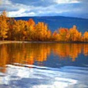 Autumn Reflections At Sunoka Art Print