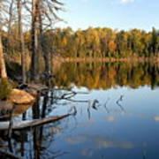 Autumn Reflections On Little Bass Lake Art Print