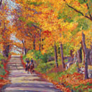 Autumn Ride Print by David Lloyd Glover