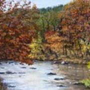 Autumn River Art Print by Jack Skinner
