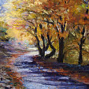 Autumn Road Home Print by Susan Jenkins