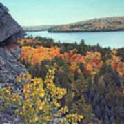 Autumn Rocks Booth's Rock Lookout Art Print