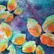 Autumn Rose Leaves Art Print