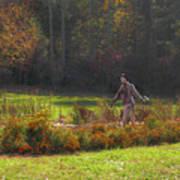 Autumn Scarecrow Art Print
