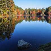 Autumn Serenity In Maine Usa Art Print