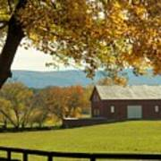 Autumn Shenandoah Barn Art Print