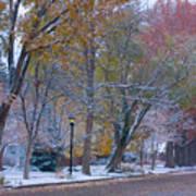 Autumn Snow Art Print