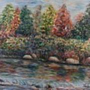 Autumn Stream Print by Nadine Rippelmeyer
