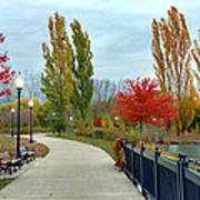 Autumn Stroll In The Park Art Print