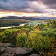 Autumn Sunset In The Catskills Art Print