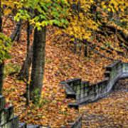 Autumn Trail - Rockyriver Metroparks Art Print
