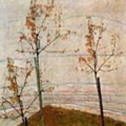 Autumn Trees Art Print by Egon Schiele