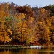 Autumn Trees Print by Sandy Keeton