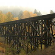 Autumn Trestle Art Print