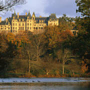 Autumn View Of The Biltmore Art Print by Melissa Farlow