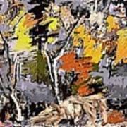Autumn Walk 1 Art Print