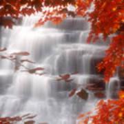 Autumn Waterfall I Art Print