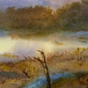 Autumn Wetlands Art Print