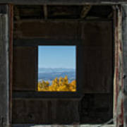 Autumn Windows Print by Barry C Donovan
