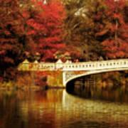 Autumnal Bow Bridge  Art Print