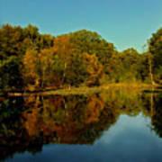 Autumnal Reflecion Art Print