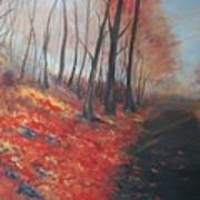 Autumns Pathway Art Print