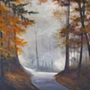 Autum's Mist Art Print